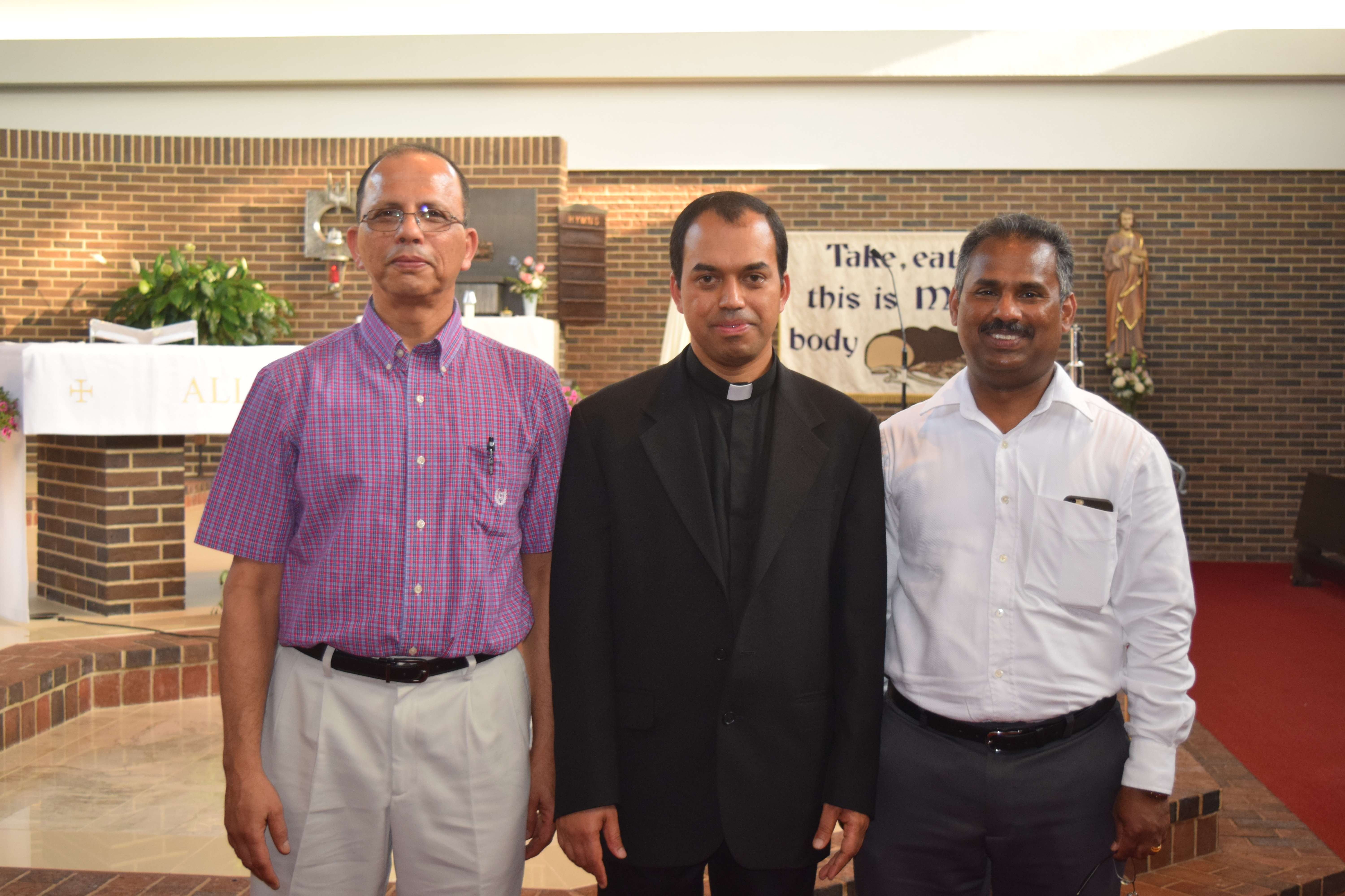 Trustees 2015-2016 Mr. George Joseph and Mr. Baby Mathew with Fr. Joseph Pullikattil