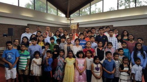 CCD (Faith Formation) Students with Aux. Bishop Mar Joy