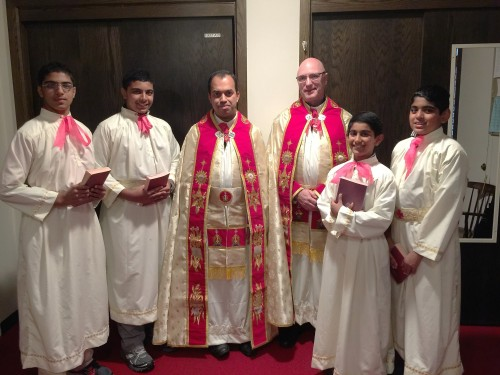 Fr. Joseph and Fr. Dennis with Alter servers